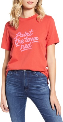 ban.do Paint the Town Red Retro Tee