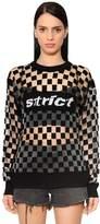 Alexander Wang Checkerboard Devore Sweater