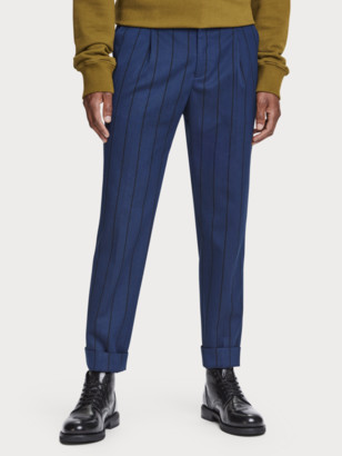 Scotch & Soda Blake - Pleated Patterned Trousers Regular slim fit | Men