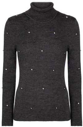 Christopher Kane Embellished merino wool sweater