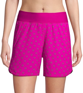 Lands' End Women's Quick Dry Thigh-Minimizer With Panty Swim Board Shorts