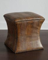 Bernhardt Cara Mia Leather Ottoman