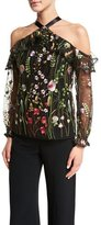 Alexis Kylie Embroidered Garden Top, Black