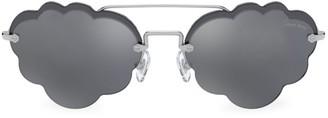 Miu Miu 58MM Scalloped Edge Sunglasses