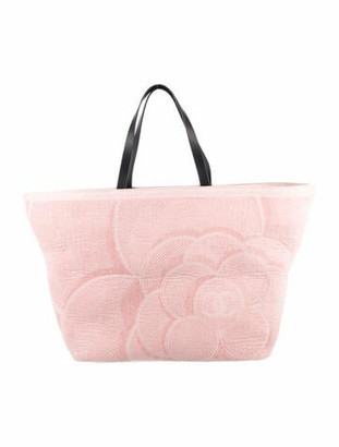 Chanel Camellia Terry Beach Tote Set Pink
