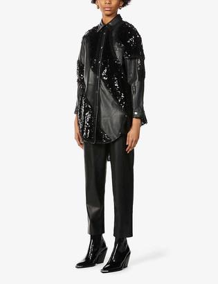 Pinko x Patrick McDowell Seadas sequinned leather jacket