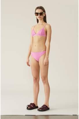 Ganni Textured Swimwear Midrise Bikini Briefs