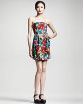 Dolce & Gabbana Floral-Print Strapless Dress