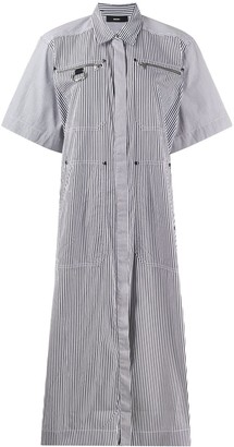 Diesel Striped Shirt Dress