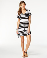 Dotti Striped Hoodie Cover-Up