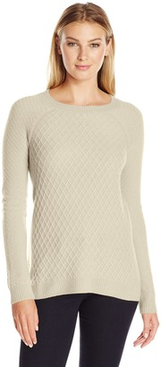 Lark & Ro Amazon Brand Women's 100% Cashmere Soft Lattice Stitch Sweater