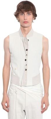 Ann Demeulemeester Slim Cotton & Linen Waistcoat