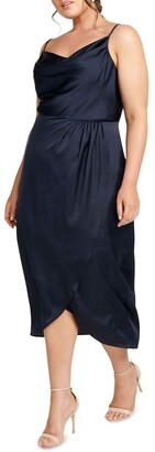Forever New Curve Holly Cowl Neck Midi Curve Dress