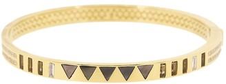 Harwell Godfrey 18kt Yellow Gold Diamond Triangle Inlay Bangle
