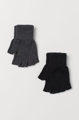 H&M 2-pack Fingerless Gloves
