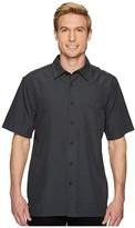 Quiksilver Waterman Centinela 4 Short Sleeve Shirt (Black) Men's T Shirt