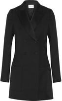 Pallas Angel Satin-trimmed Wool-twill Tuxedo Mini Dress - Black