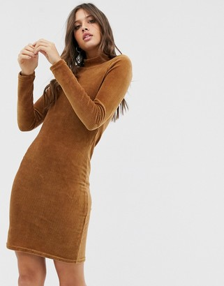 Pieces long sleeve bodycon dress