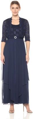 R & M Richards R&M Richards Women's 2 PCE Lace Georgette Jacket Dress