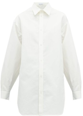 Raey Oversized Dropped-shoulder Cotton-blend Shirt - Womens - White