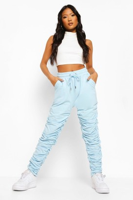 boohoo Petite Ruched Joggers