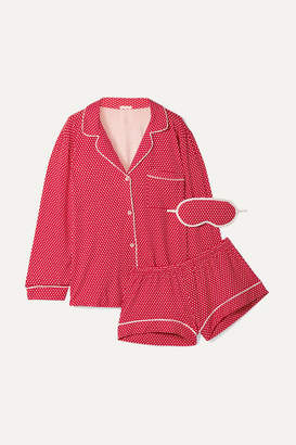 Eberjey Sleep Chic Printed Stretch-jersey Pajama Set - Red