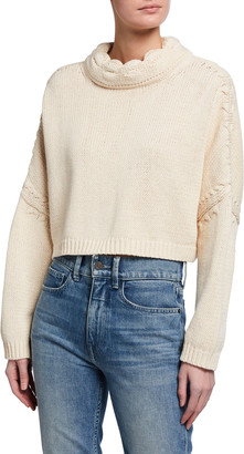 J.W.Anderson Back-Tie Cropped Knit Sweater