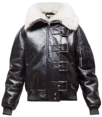 Altuzarra Durham Shearling-lined Leather Aviator Jacket - Womens - Black