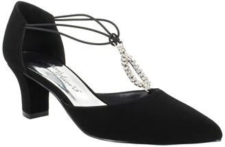 Easy Street Shoes Moonlight Embellished T-Strap Pump - Multiple Widths Available