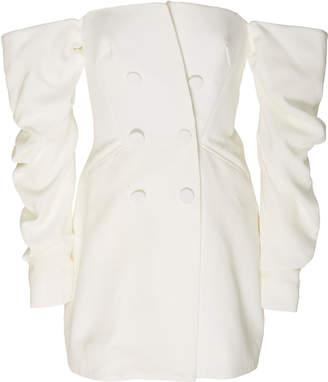 Acler Perkins Off-The-Shoulder Crepe Mini Dress