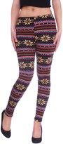 Simplicity Snowflake Winter Warm Knitted Pattern Footless Leggings