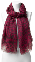 Diane von Furstenberg Modal Leopard Scarf In Spotted Cat Purple