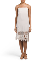 Made In USA Lace Crochet Slip Dress