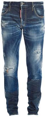 DSQUARED2 Slim-Fit Distressed Macchia Wash Jeans