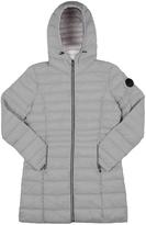Point Zero Graphite Hooded Longline Puffer Jacket