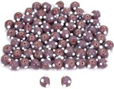 Generic Round Purple Dot Lampwork Glass Beads 6mm Approx 68Pcs
