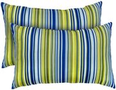 Greendale Home Fashions IC5811S2-Vivid Rectangle Indoor Accent Pillows with Vivid Stripe, Set of 2