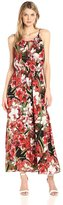 Sangria DBFX876 Floral Printed Jersey A-line Dress