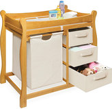 Badger Basket Honey Changing Table with Hamper and Three Baskets