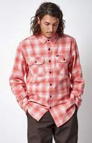 Obey Shriner Plaid Flannel Long Sleeve Button Up Shirt