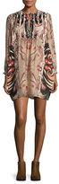 Rachel Zoe Lucia Date Palm Print Silk Dress