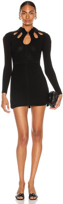 Self-Portrait Knit Tunic in Black | FWRD