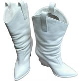 Giuseppe Zanotti White Leather Boots
