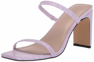 The Drop Avery Square Toe Two Strap High Heeled Sandal womens Avery Square Toe Two Strap High Heeled Sandal Heeled Sandal Purple (Lila) 3 UK (36 EU)