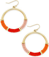 Kate Spade That's A Wrap Gold-Tone Beaded Hoop Earrings