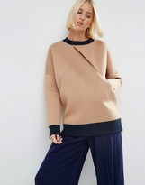 Asos Cross Over Front Bonded Sweat