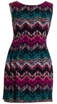 Connected Petite Chevron-Print Dress