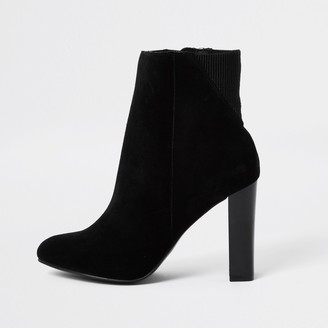 River Island Womens Black smart heeled ankle boot