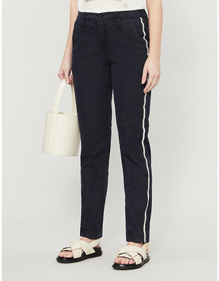 Zadig & Voltaire Pomelo side-striped slim-fit cotton-blend trousers