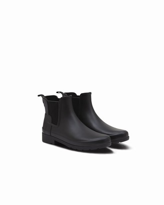 Hunter Women's Refined Chelsea Boot Black Size 6